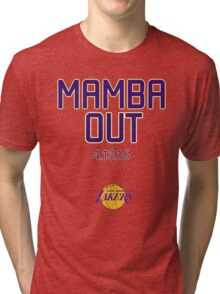 Kobe Bryant Mamba out Tri-blend T-Shirt