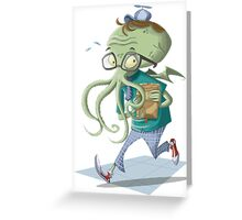 Schoolthulhu Greeting Card