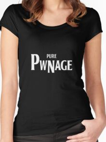 Pure Pwnage (Beatles style) Women's Fitted Scoop T-Shirt