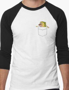 Caveman Spongebob in a pocket Men's Baseball ¾ T-Shirt