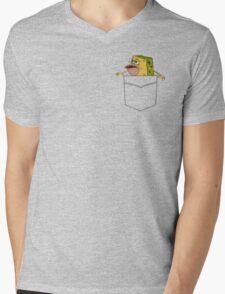 Caveman Spongebob in a pocket Mens V-Neck T-Shirt