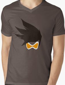 Tracer Hair and Goggles Vector Mens V-Neck T-Shirt
