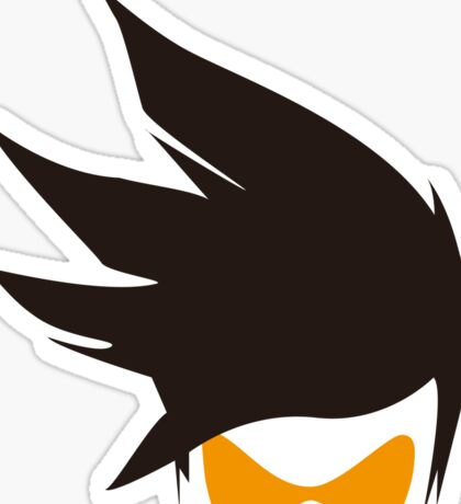 Tracer Hair and Goggles Vector Sticker