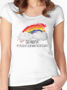 Grandma Is Splash of Color Women's Fitted Scoop T-Shirt