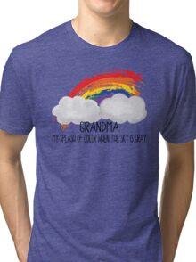 Grandma Is Splash of Color Tri-blend T-Shirt