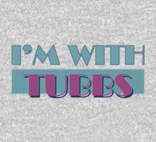 I'M WITH TUBBS (dark tee) One Piece - Short Sleeve