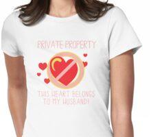 Heart Belongs To Husband Womens Fitted T-Shirt