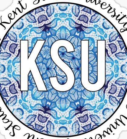 Kent State University Blue Lace Sticker