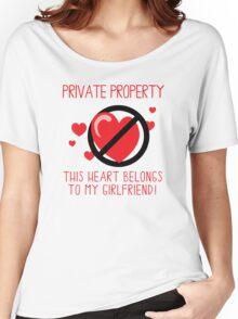 Heart Belongs To Girlfriend Women's Relaxed Fit T-Shirt