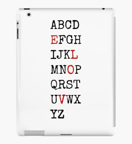 Love's Alphabet iPad Case/Skin