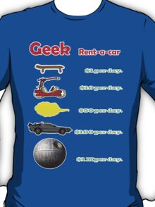 Vehicles. Simpsons, flinstones, dragonball, back to the future and star wars. T-Shirt