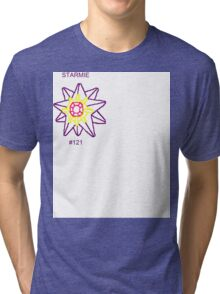 Starmie Outline - White Out Tri-blend T-Shirt