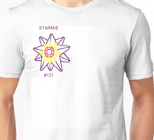 Starmie Outline - White Out Unisex T-Shirt
