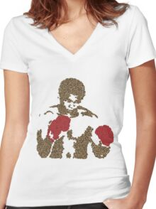 Muhammed Ali Float Like A Butterfly Sting Like A Bee Women's Fitted V-Neck T-Shirt