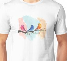 Watercolor birds Unisex T-Shirt