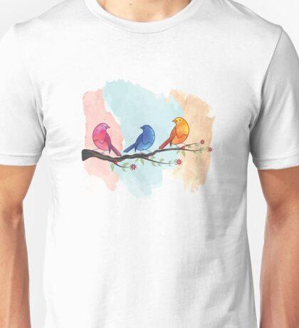 Watercolor birds Unisex T-Shirt