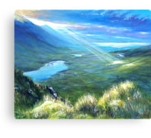 The last touch Canvas Print