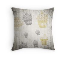 Shabby chic Cupcake Lover 3 Throw pillow and Tote Bag Throw Pillow