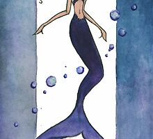 Violet Mermaid by ClaireNobles