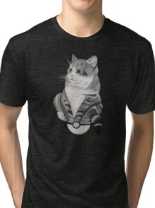 Fat Cat in a Pokeball Tri-blend T-Shirt