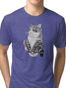 Fat Cat in a Pokeball Tri-blend T-Shirt