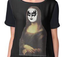 Mona Lisa in KISS makeup Chiffon Top
