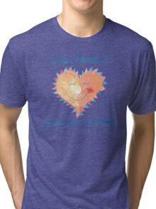 Husband Makes My Heart Smile Tri-blend T-Shirt