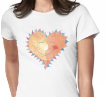 Love Heart Smiling Womens Fitted T-Shirt