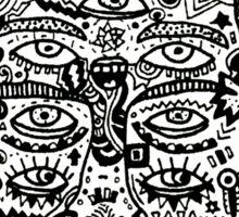 strange face Sticker