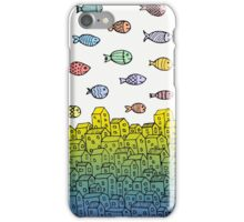 Underwater village II iPhone Case/Skin