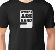 Words Are Hard - Comma Unisex T-Shirt