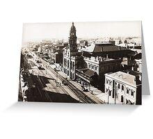 1928 Vintage Adelaide City Landscape Greeting Card