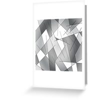 ABSTRACT LINES-1 (Grays & White)-(9000 x 9000 px) Greeting Card