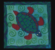 Red Flipper Turtle  One Piece - Short Sleeve
