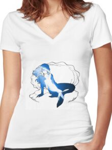 Mermaid Fairy Fusion Women's Fitted V-Neck T-Shirt