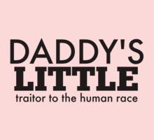 Daddy's Little Traitor to the Human Race - Black Baby Tee