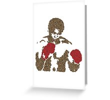 Muhammad Ali Inspired Art Made of Butterflies and Bees Greeting Card