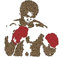 Muhammad Ali Inspired Art Made of Butterflies and Bees Photographic Print