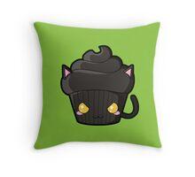 Spooky Cupcake - Black Cat Throw Pillow