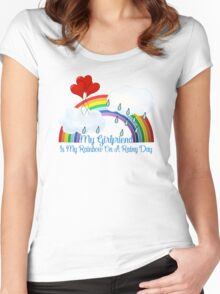 Girlfriend Is My Rainbow Women's Fitted Scoop T-Shirt