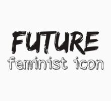 Future Feminist Icon - Black One Piece - Short Sleeve