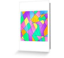 ABSTRACT LINES-1 (Multicolor Light)-(9000 x 9000 px) Greeting Card