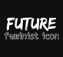 Future Feminist Icon - White Baby Tee