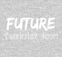 Future Feminist Icon - White One Piece - Long Sleeve