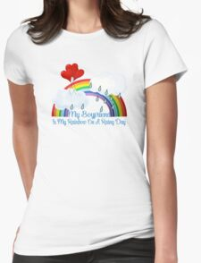 Boyfriend Is My Rainbow Womens Fitted T-Shirt