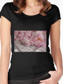 Paris Peonies Women's Fitted Scoop T-Shirt