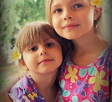 Summer Girls. Frangipanis On Their Hair by Evita
