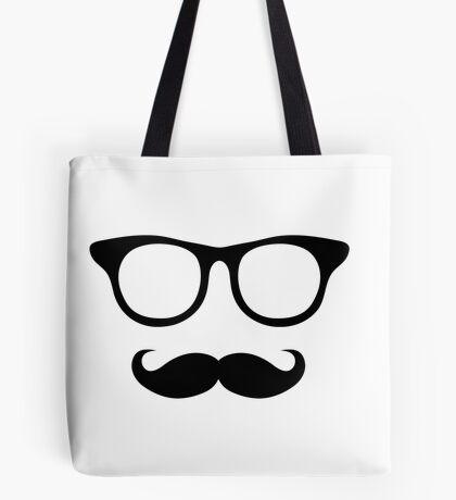 Nerdy Mustache Man Tote Bag