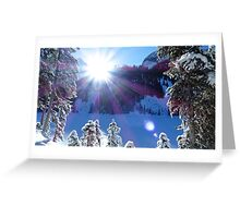 Cold Winter Sunlight Greeting Card
