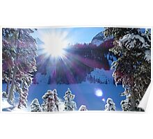 Cold Winter Sunlight Poster